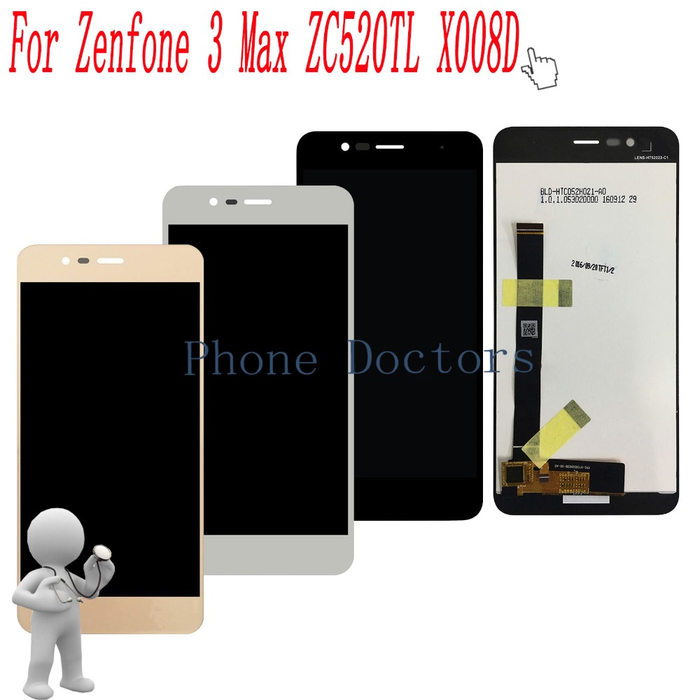 5.2 inch Full LCD DIsplay+Touch Screen Digitizer Assembly For Asus Zenfone 3 Max ZC520TL X008D X008DB X008DC