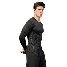 6cb25eda240542 YEL 2018 Logo Custom Compression Fitness Tights Jersey Gym Running T-Shirt  Sportswear Bodybuilding Men S