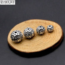 Винтажные бусины ручной работы из серебра 925 пробы Ом МАНИ