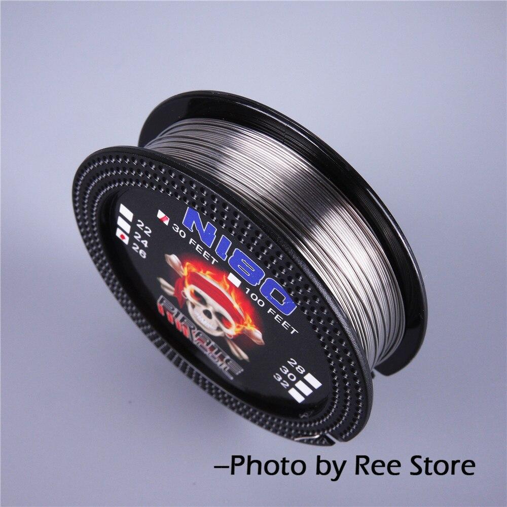 PIRATE COIL NI80 Heating Wire 10m/roll 22GA 20GA 18GA Nichrome Wire RDA Atomizer Heating Wires Electronic Cigarette Accessories