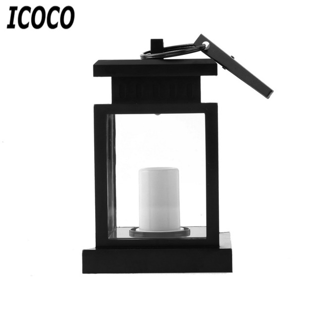 ICOCO 1pcs Popular Classic Outdoor Solar Power Twinkle LED Candle Light  Yard Wall Garden Landscape Decoration