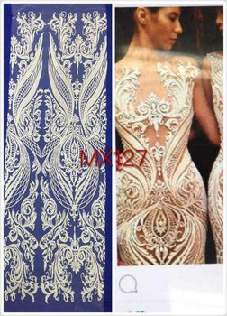 latest nigerian laces H3516 high quality african cord lace french net lace fabric in white colour