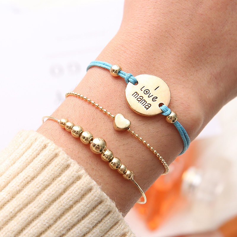 Fashion Letters Tassel Bracelet set for women Turtle Animal Fruit Geometric Beads Multilayer Bracelet Charm Party Jewelry Gifts in Charm Bracelets from Jewelry Accessories