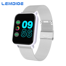 LEMDIOE Smart Watch men women heart rate blood pressure monitor with Full Screen Touch Ios Smartwatch Android Life Waterproof