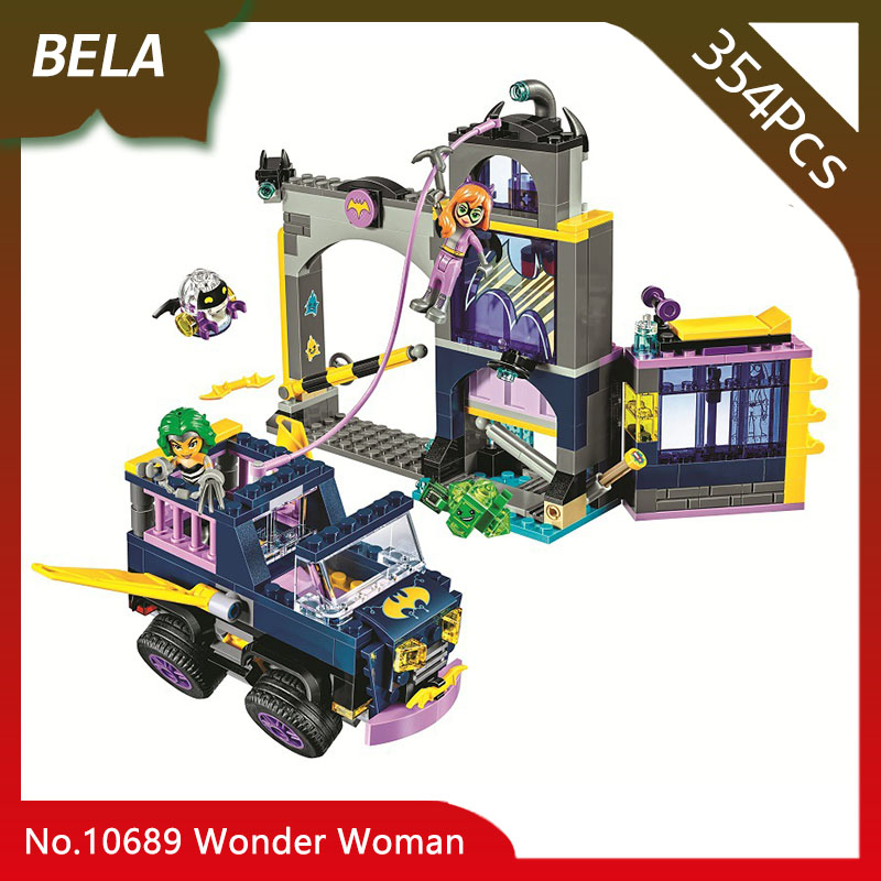 Бела 10689 Супер Герои 354 шт. Batgirl Secret Bunker Wonder Woman модель строительные блоки кирпичи развивающие игрушки Совместимость 41237