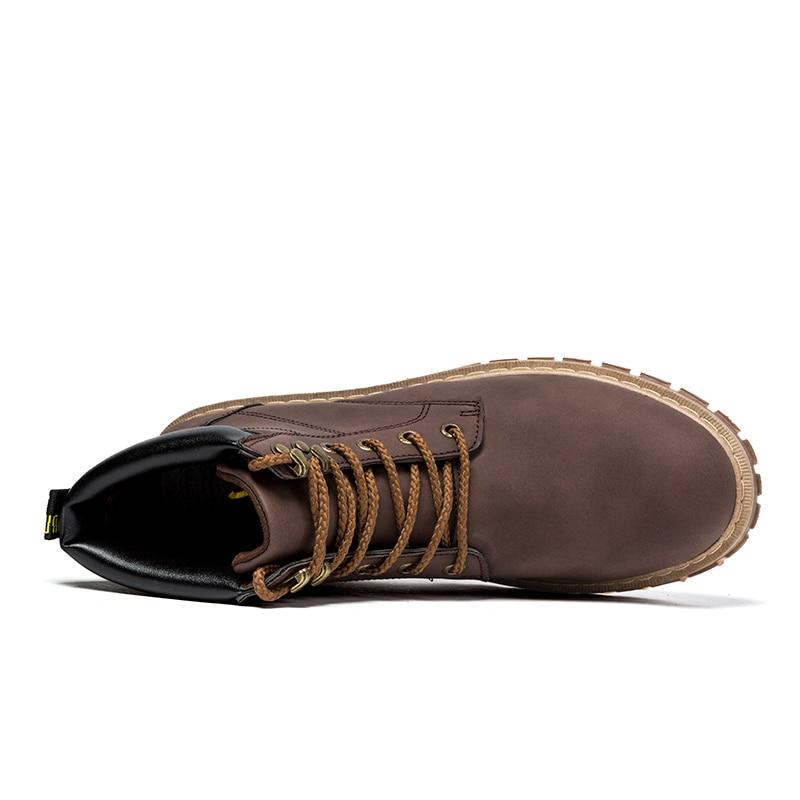 Bottes Cheville Chaussures Mode Hommes brown High Lace Cuir Noir Up En Suédé jaune Casual Top New Neige 8PNwkX0nO