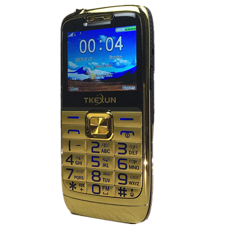 2.2 Original TKEXUN E71 Mobile Phone Dual SIM Card FM radio Big Keyboard Unlocked flashlight Russian Keyboard