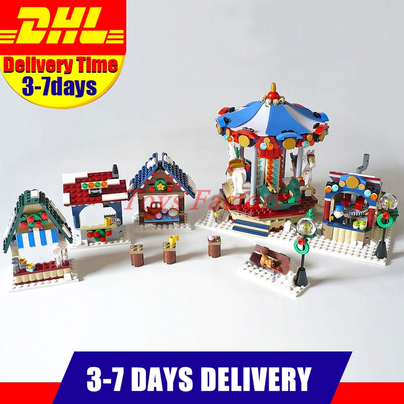 Clone 10235 Lepin 36010 1412 PCS The Winter Village Market Set DIY Building Blocks Bricks Educational Toys Funny Gifts lepin 36010 genuine creative series the winter village market set legoing 10235 building blocks bricks educational toys as gift