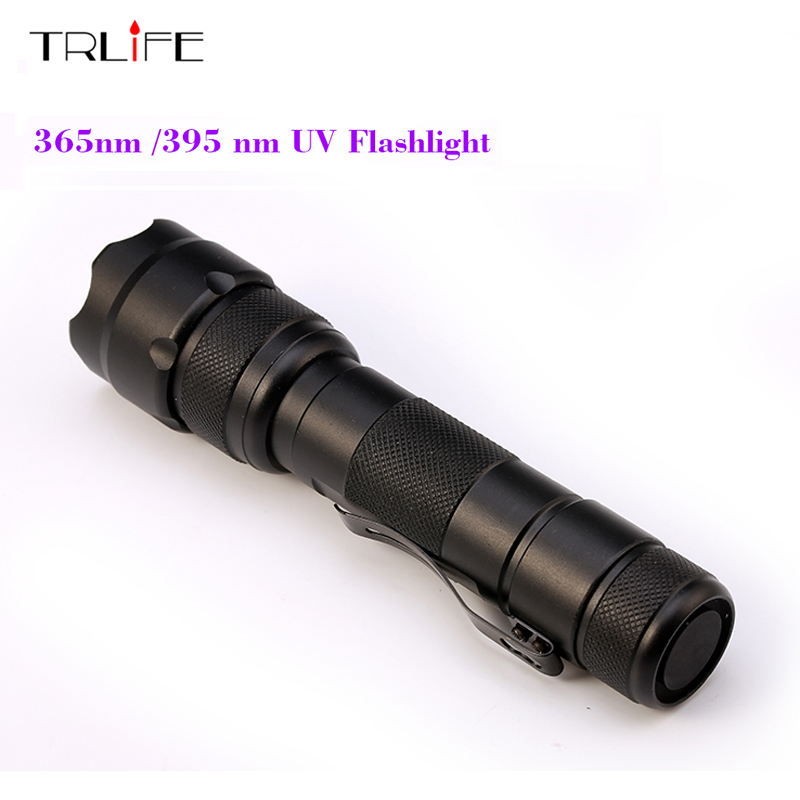 502B 365nm/395nm UV Flashlight Purple Light Ultraviolet Luxeon UV LED Torch Light Lamp Detection Lights