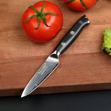 2017 High Quality SUNNECKO 3.5″ inches Fruit Paring Knife Japanese VG10 Steel Sharp Kitchen Knives Damascus Cut G10 Handle