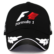 Hombres Fórmula 1 gorras de béisbol negro F1 3D bordado sombreros motocicleta Racing MOTO GP Caps ajustable al aire libre sol deportes sombrero gorro
