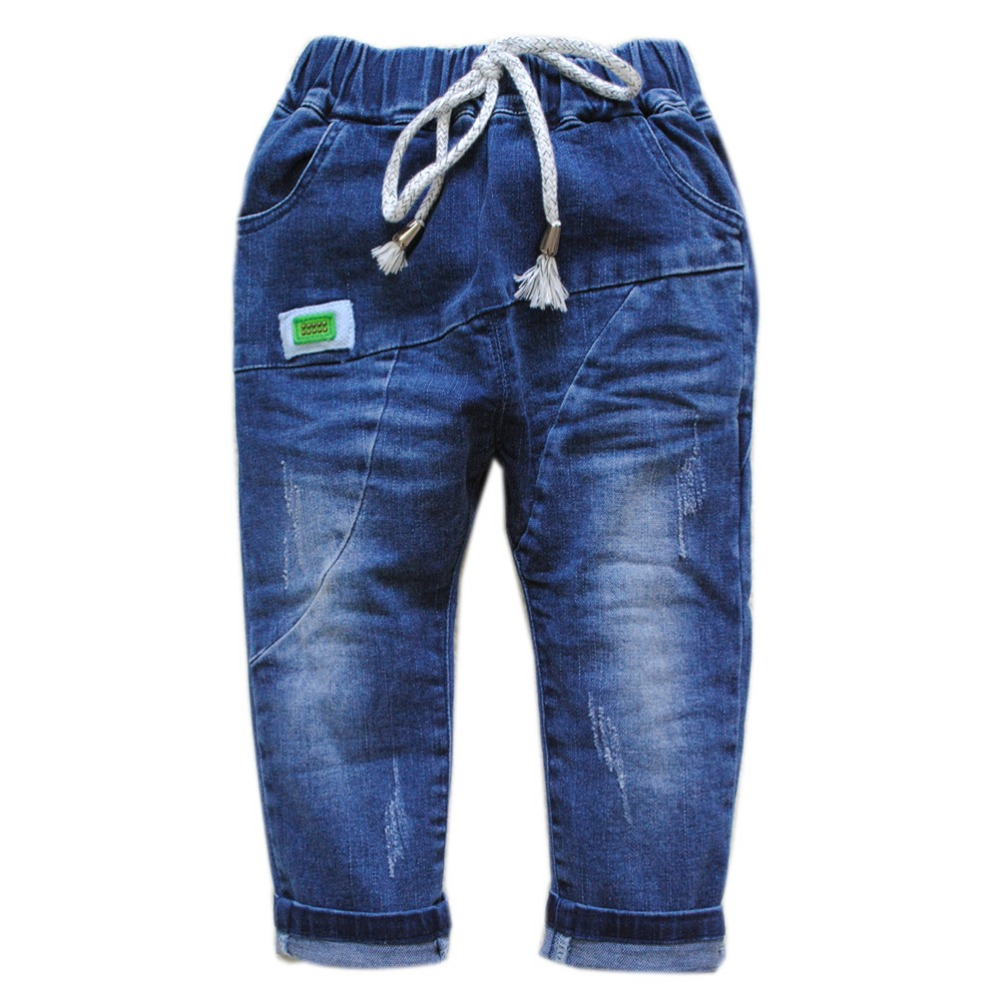 5939 soft denim jeans pants boys jeans trousers spring autumn simple fashion new kids baby jeans baby boys jeans elastic waist