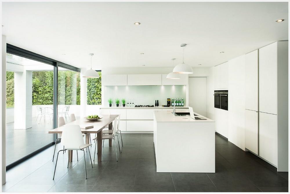 US $150.0 |2017 bianco laccato lucido cucina ad isola cabient da cucina su  misura mobili da cucina popolare modulare furniturehot vendite-in Accessori  ...