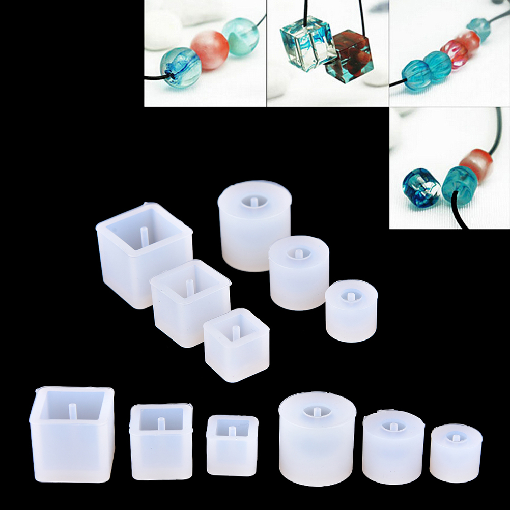 1 Pcs Round Square Silicone Mold Epoxy Casting Resin For Jewelry Beads Pendant Bangle Bracelet Making Mold DIY Hand Craft Tool
