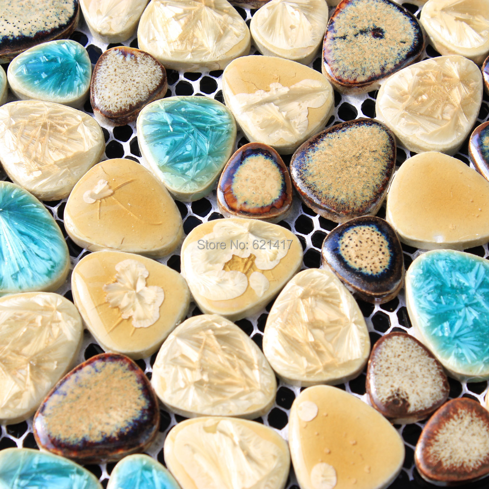 Online kopen wholesale pebble tegel backsplash uit china pebble ...