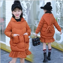 Girls Winter Coats 2017 Hooded Mermaid Children Down Jacket Long Teenagers Parka Girls Clothes 13 Years Christmas Outfits Kids