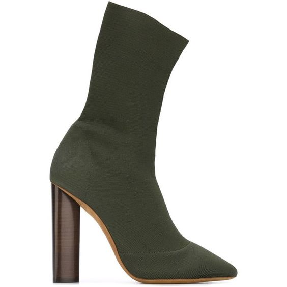 Sexy Hauts Beige Army black Cheville Femmes Court Tricot Bottes Green Pointu Vert Toe Kardashian beige Kim Green black Chaussures beige Bout Noir Toe Armée Extensible pointed Talons army Chaussette Chaussons Bloc En pointed UVSpzqM