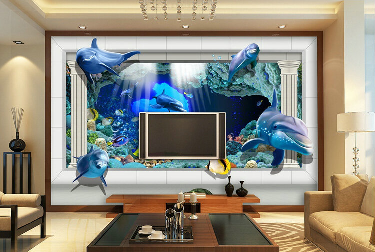 Living Room 3d Wallpaper wallpaper background picture - more detailed picture about super