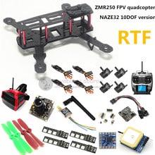 DIY mini drone FPV ZMR250 quadcopter RTF NAZE32 10DOF + 2204II 2300KV motor + AT9 remote control + 700TVL camera + 6m GPS
