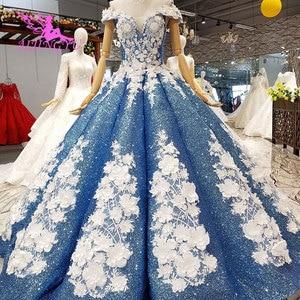 Image 1 - AIJINGYU Dantel Vintage Gelinlik Düz Önlük Kraliçe Frocks Uzun Geri Ayıklaması Gelin Lüks Gelinlik düğün kıyafeti
