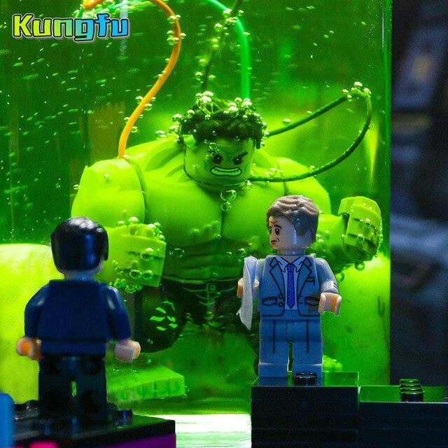 Figuras individuais LegoINGy Vingadores Hulk Spiderman mini Blocos de Construção Tijolos compatíveis com Brinquedos Para as crianças presentes playmobil Legoes