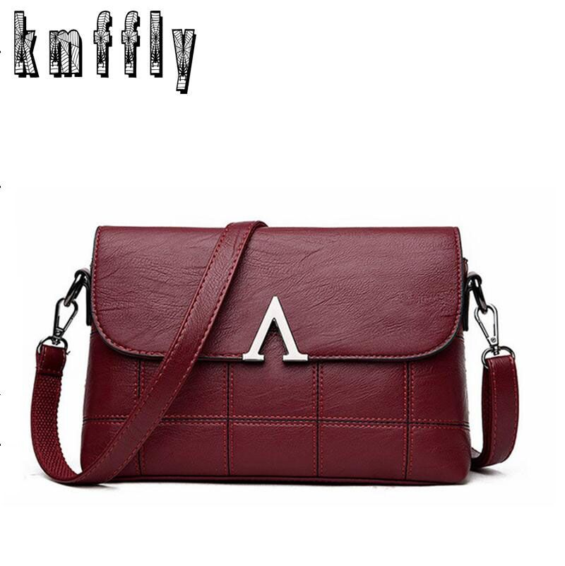 KMFFLY Brand Women HandBags Designer Crossbody Bags Sheepskin v Women Messenger Bags Genuine Leather Bags Shoulder Ladies sac
