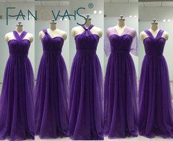 2017 cheap bridesmaid dresses convertible tulle bridesmaid dress purple multi style maid of honor dress bruidsmeisjes.jpg 250x250