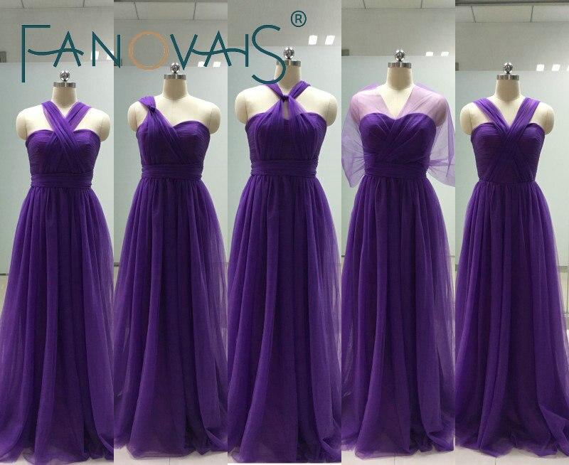 Lujo Vestidos De Damas De Honor Multivía Colección - Vestido de ...