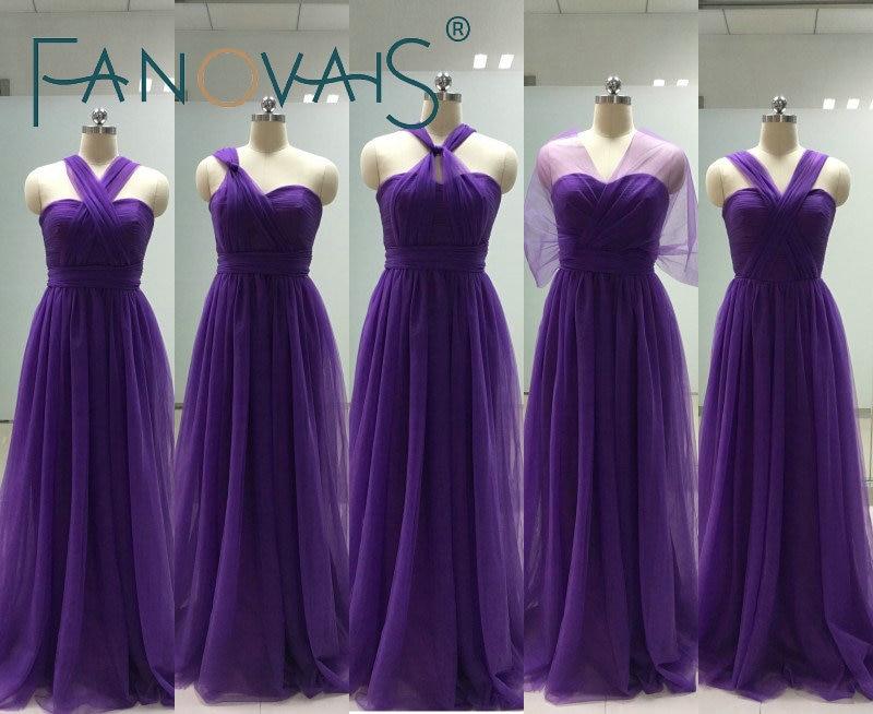 Magnífico Vestido De La Dama De Honor De Color Púrpura Claro ...