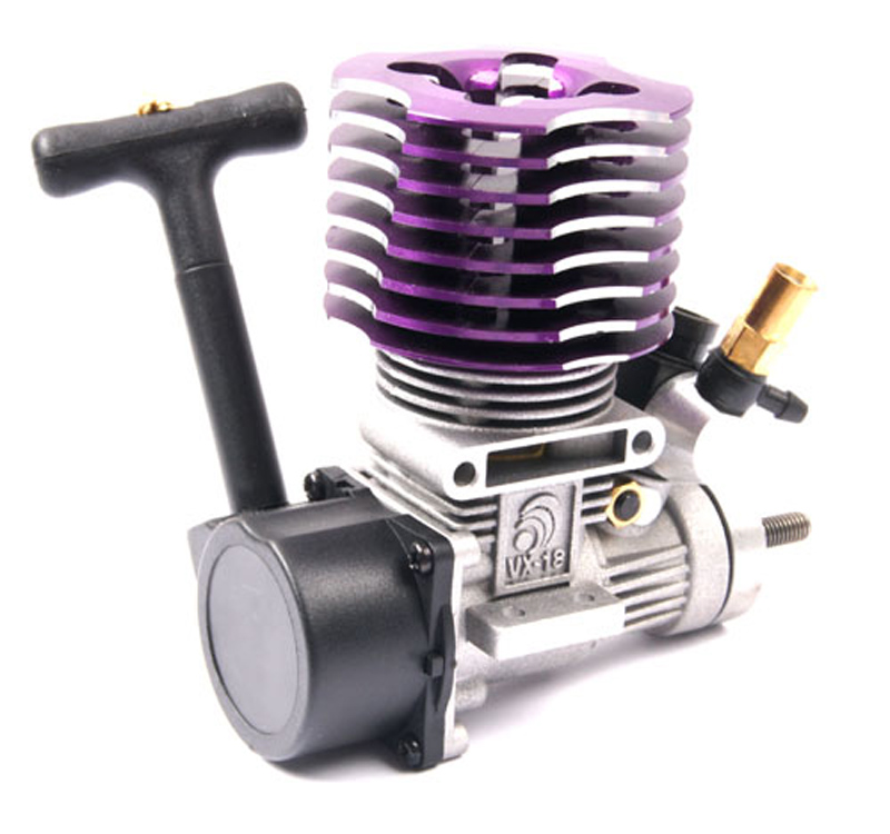 1PCS HSP 02060 1/10 RC Cars Vertex 18 Engine 2.95CC Pull Starter Methanol Engine Blue and Purple For 1/10 RC Model Cars hsp 80101 rc 1 8 автомобиля нитро газ двигатель glow starter перезаряжаемый воспламенитель