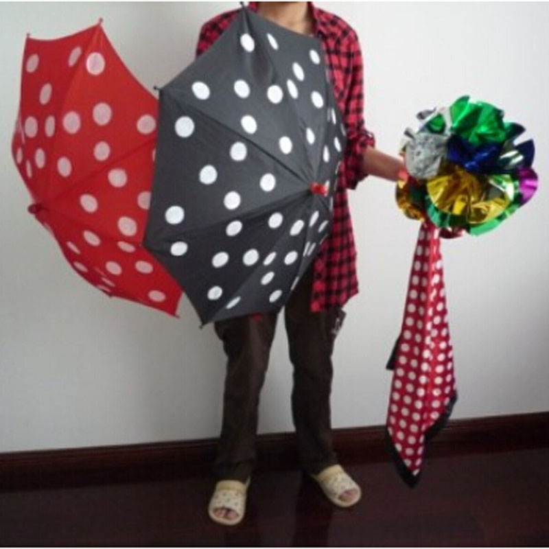 Polka Dot Silk & Umbrella - magic trick,illusion,accessories,stage,gimmick,prop,mentalism 4d gift board trick magic trick stage illusion gimmick accessories comedy