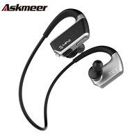 Askmeer J2 Wireless Bluetooth Earphone Sport Stereo Earbuds Headset In Ear Earpiece With Microphone 8GB Mp3