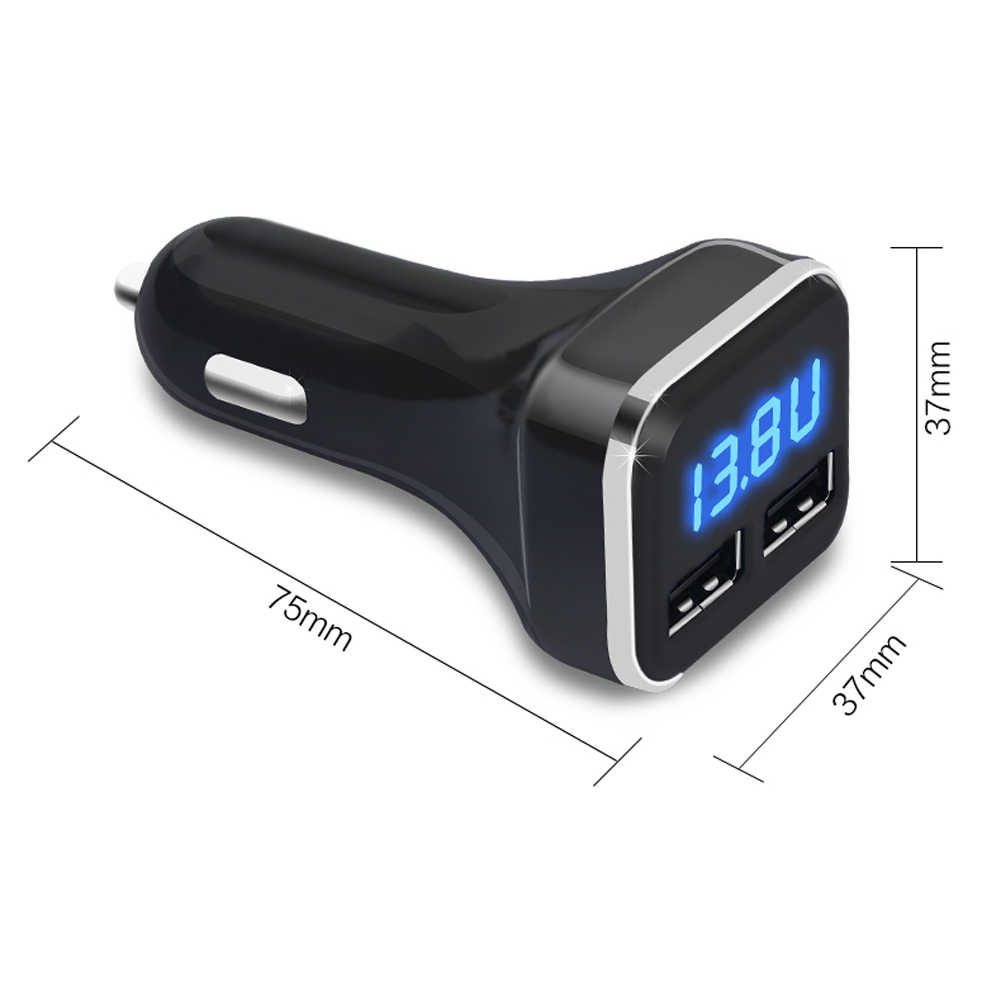 Universal Car Chargers Dual USB 4.8A Car Charger Adapter Auto LED Display Fast Charging For Mobile Phone PC