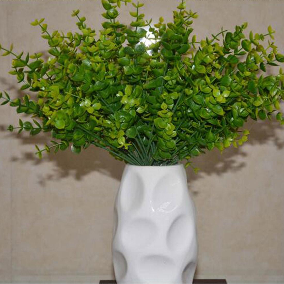 fresco branches nueva moda manojo artificial eucalyptus hierba hojas verdes plantas de decoracin