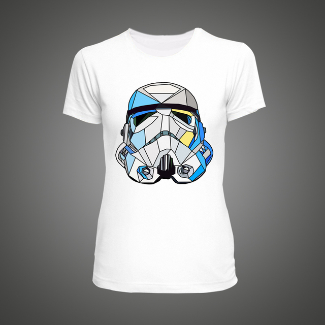 Cool Star Wars Glass Stormtrooper White T-Shirt