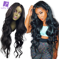 Wavy 13x6 Lace Front Wig Lace Frontal Human Hair Brazilian Hair Wigs With Baby Hair Pre Plucked Glueless Non Remy Luffy Hair