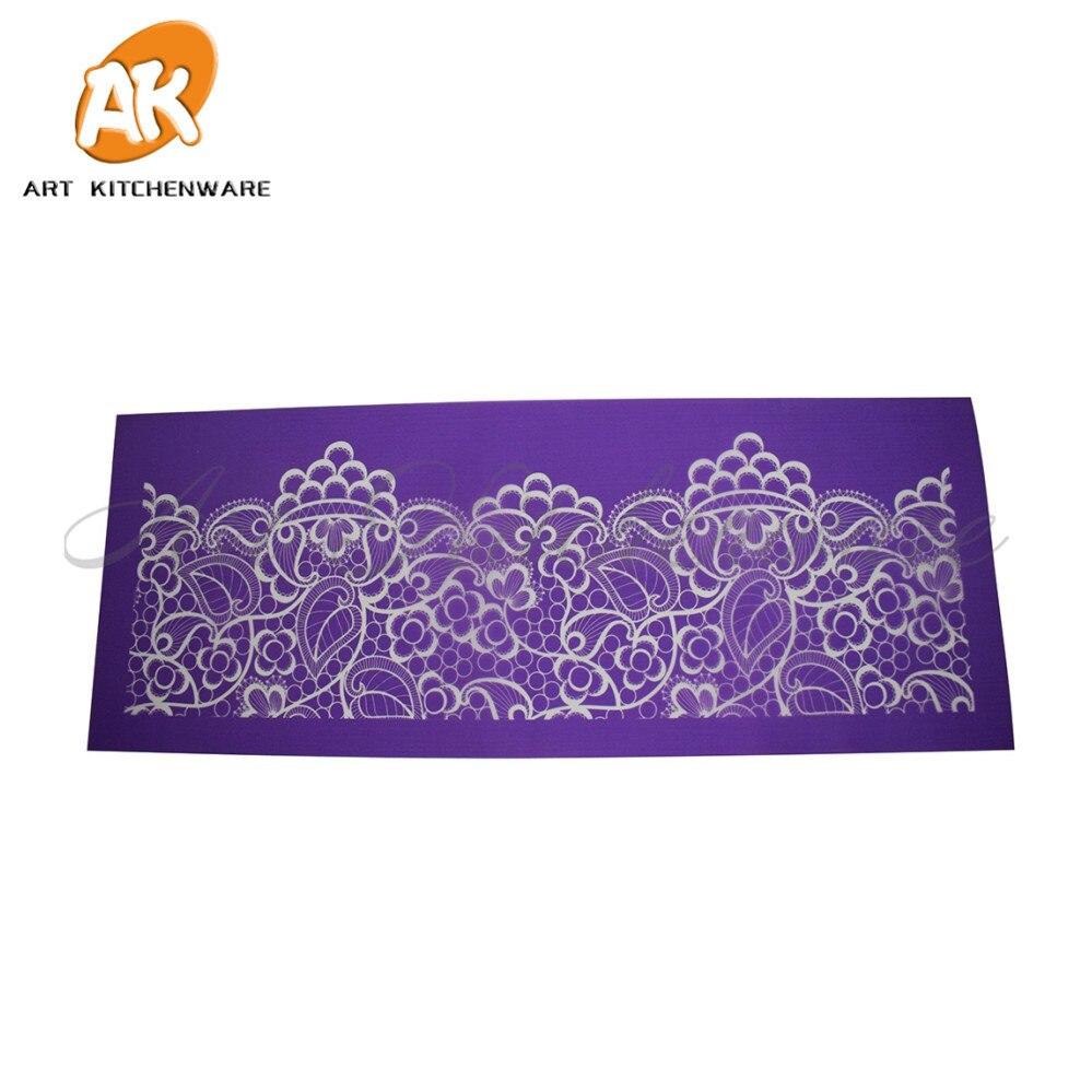 Nueva baya malla Stencil Lace Cake Stencil plantilla encaje Mat DIY ...
