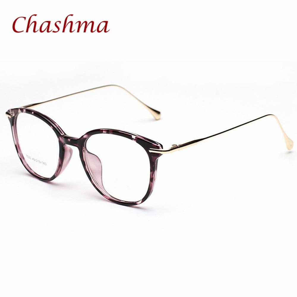 Chashma מותג TR 90 עגול משקפי שמש וינטאג מרשם משקפיים מסגרת גברים ונשים