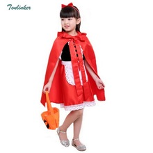 Girls Halloween Little Red Priness with Hood Cloak Fancy Dress Costume Child Cape Outfit Christmas Cosplay Carnival