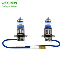 XENCN H3 Pk22s 4300K 12V 55W Silver Diamond Light Car Headlight Bright White Bulb UV Filter Halogen Fog Lamp