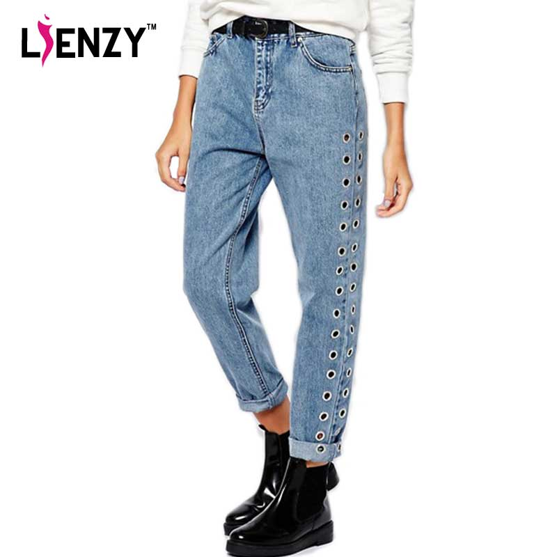 LIENZY Spring Casual Women Mom Jeans Sids