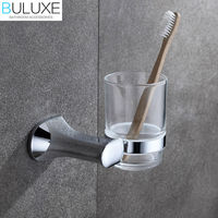 BULUXE Brass Bathroom Accessories Toothbrush Holder Wall Mounted Bath Acessorios de banheiro Cup Holder HP7719