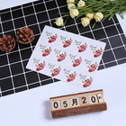 120pcs/lot Lovely Rose Flower Round Thank you Adhesive Kraft Seal Sticker for Baking Round Gift Label Stickers