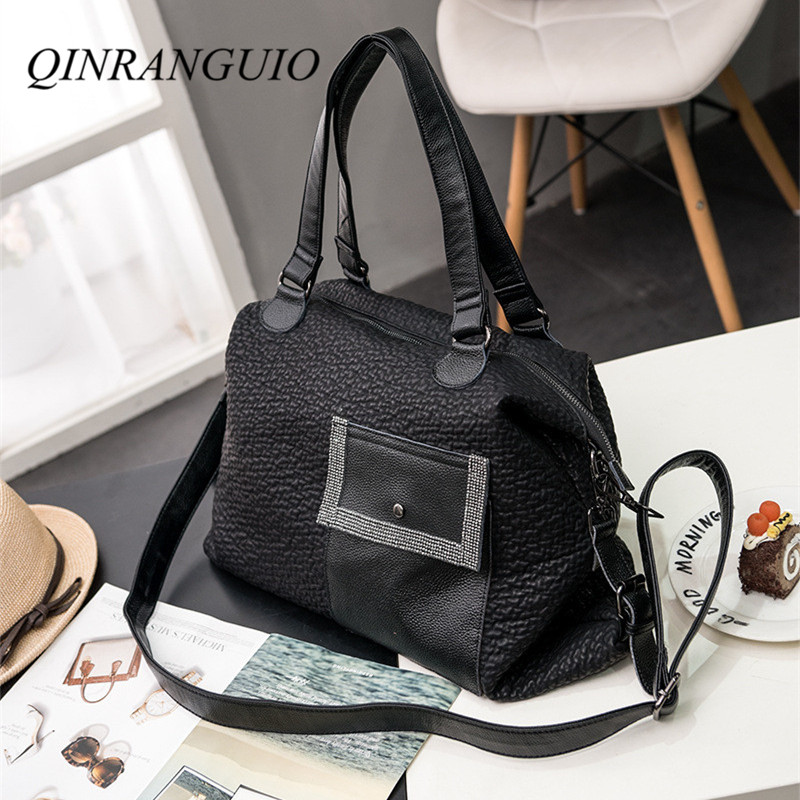 QINRANGUIO Women Bag Vintage Genuine Leather Bags for Women 2019 New Women Leather Handbags Shoulder Crossbody