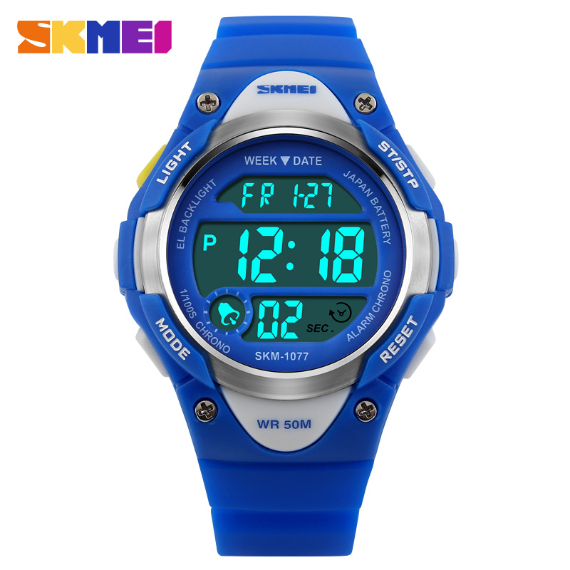 SKMEI Children's Watches Top Kids Watches Clock Girls Boys Sport Wrist Watch Water Resistant Alarm Fashion Relogio Infanti 1077