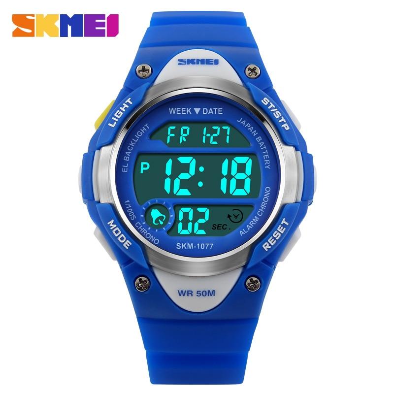 SKMEI Children's Watches Top Kids Watches Clock Girls Boys Sport Wrist Watch Water Resistant Alarm Fashion Relogio Infanti 1077