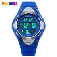SKMEI Relógios das Crianças Top Crianças Relógios Relógio Meninas Meninos Relógio de Pulso Esporte Resistente À Água Alarme Relogio Moda infanti 1077