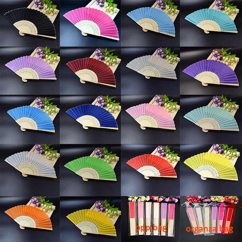 40pcs Personalized Wedding Favor Gift Silk Hand Fans Cloth Fan Customalized Names Text Promotion Gift