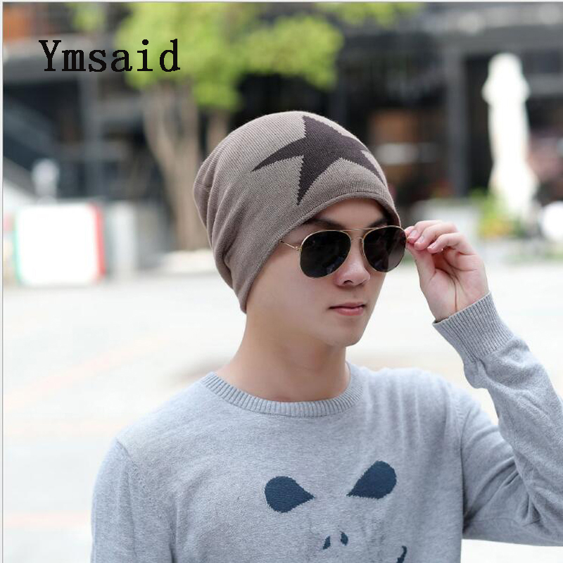Ymsaid Faux Fur Warm Baggy Knitted Hat Men Beanies Knit Skullies Bonnet Hats For Men Women Beanie Men's Winter Hat Caps aetrue beanies knitted hat winter hats for men women caps bonnet fashion warm baggy soft brand cap skullies beanie knit men hat