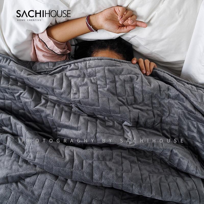 Ev ve Bahçe'ten Yorgan ve Nevresimler'de % 100% Pamuk Ağırlıklı Battaniye Yerçekimi Yorgan Battaniye Uyku Yardımcısı Basınç Yorgan Uyku Yorgan'da  Grup 2